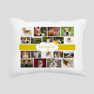 Corgis! Rectangular Canvas Pillow