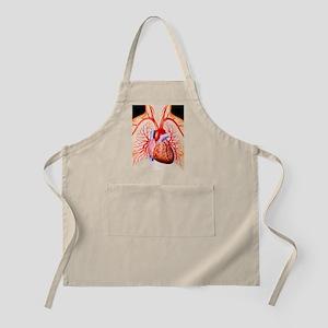 Human heart, artwork Apron