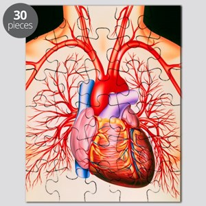 Human heart, artwork Puzzle