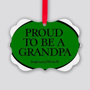 PROUD TO BE A GRANDPA Picture Ornament