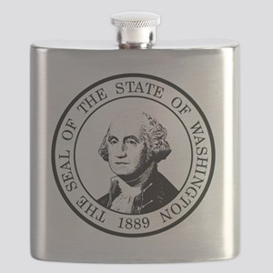 Washington State Black Flask