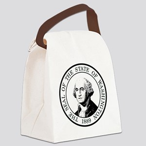 Washington State Black Canvas Lunch Bag