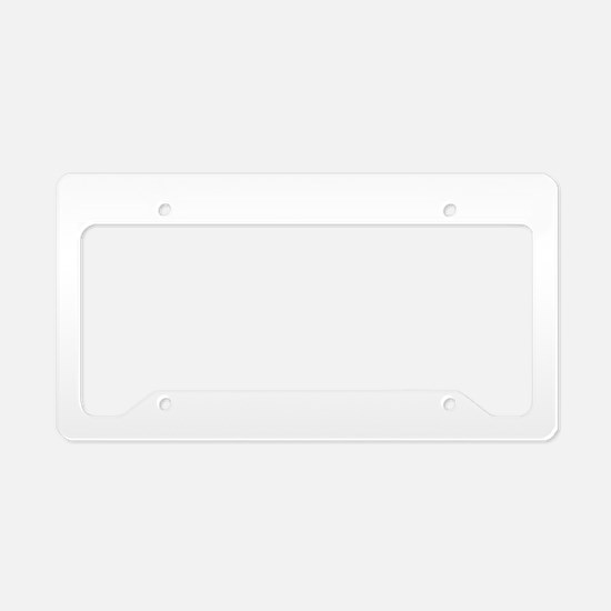 California Flag in White License Plate Holder