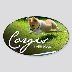3rd Annual Corgis (with blogs) Cale Sticker (Oval)