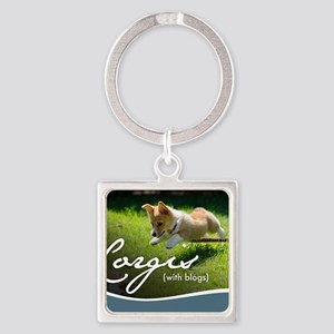 3rd Annual Corgis (with blogs) Cal Square Keychain
