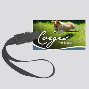 3rd Annual Corgis (with blogs) C Large Luggage Tag