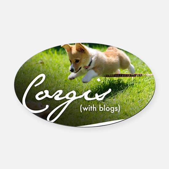 3rd Annual Corgis (with blogs) Cal Oval Car Magnet