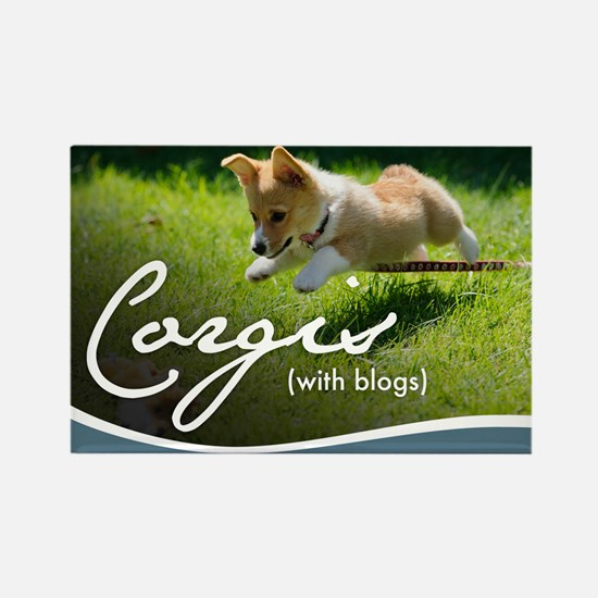 3rd Annual Corgis (with blogs) Ca Rectangle Magnet
