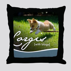 3rd Annual Corgis (with blogs) Calend Throw Pillow
