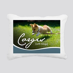 3rd Annual Corgis (with  Rectangular Canvas Pillow