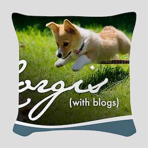 3rd Annual Corgis (with blogs) Woven Throw Pillow