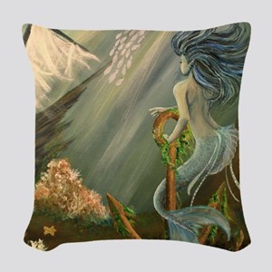 Mysterious Fathoms Woven Throw Pillow
