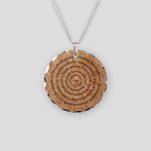 iAtheistroundhat2 Necklace Circle Charm