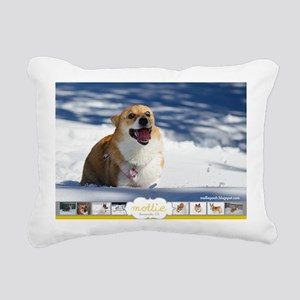 Mollie Corgi Rectangular Canvas Pillow