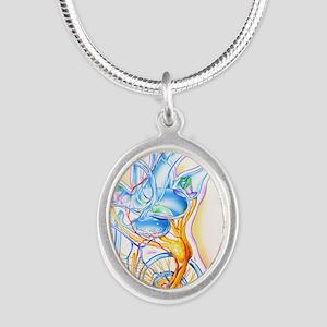 Inner ear Silver Oval Necklace