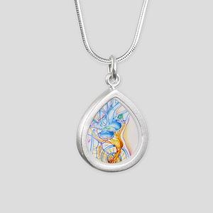 Inner ear Silver Teardrop Necklace