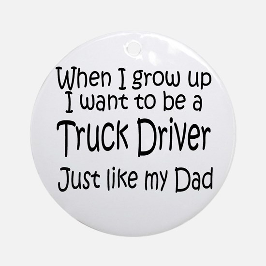 WIGU Trucker Dad Ornament (Round)