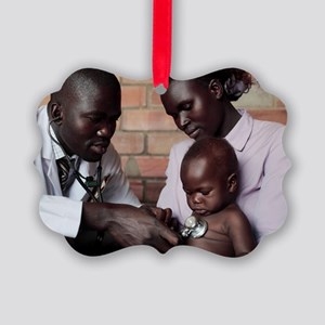 Assessing a sick child Picture Ornament