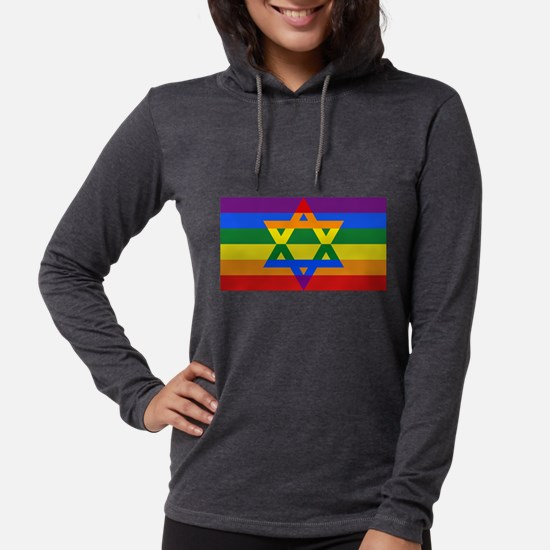 Rainbow Star of David Long Sleeve T-Shirt