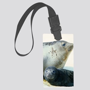 Southern elephant seals Large Luggage Tag