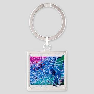 Artwork of Parkinson's disease dru Square Keychain