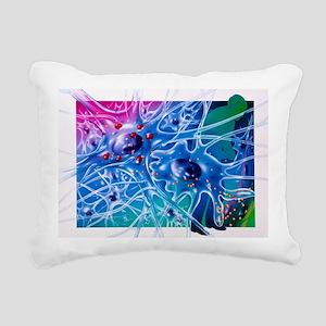 Artwork of Parkinson's d Rectangular Canvas Pillow