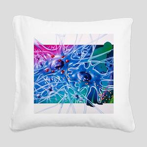 Artwork of Parkinson's diseas Square Canvas Pillow