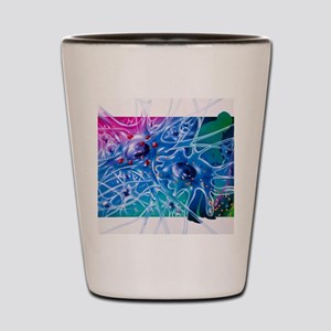 Artwork of Parkinson's disease drug tre Shot Glass