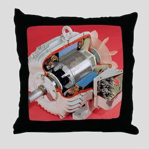 Induction motor Throw Pillow