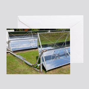 Solar parabolic mirrors, Cologne, Ge Greeting Card