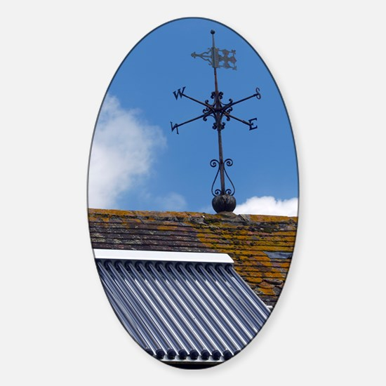 Solar water heating system Sticker (Oval)