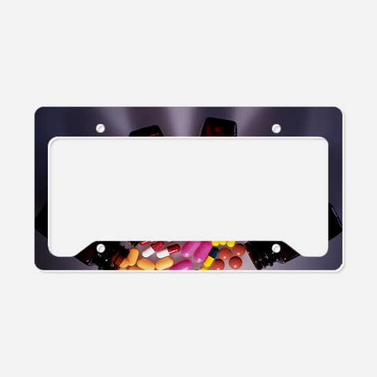 Assorted pills License Plate Holder