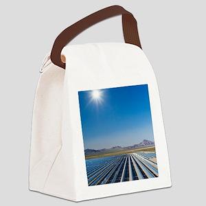 Solar power plant, Nevada Canvas Lunch Bag