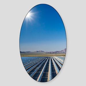 Solar power plant, Nevada Sticker (Oval)