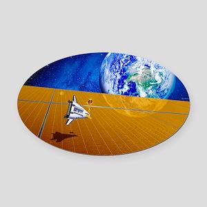Solar power satellite Oval Car Magnet