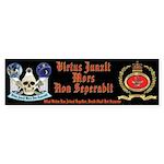 Masonic Badge and Skull Bumper Sticker