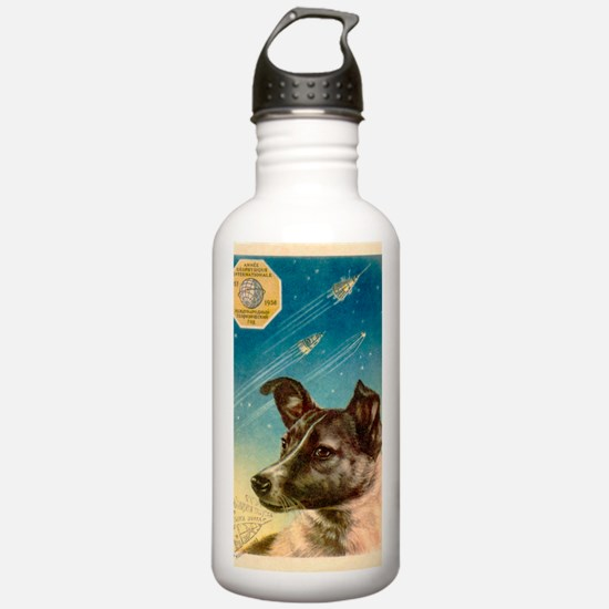Laika the space dog po Water Bottle