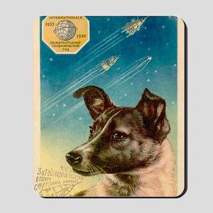 Laika the space dog postcard Mousepad
