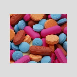 Assorted pills Throw Blanket