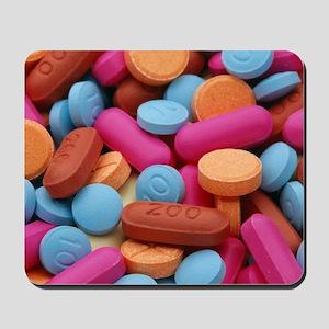 Assorted pills Mousepad