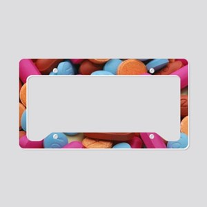 Assorted pills License Plate Holder