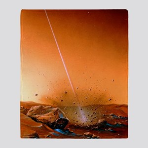 Landing of Martian subsurface probe Throw Blanket