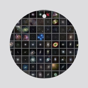 Messier objects, full set Round Ornament