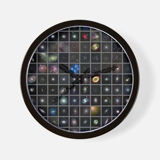 Messier objects, full set Wall Clock