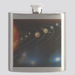 Solar system planets Flask