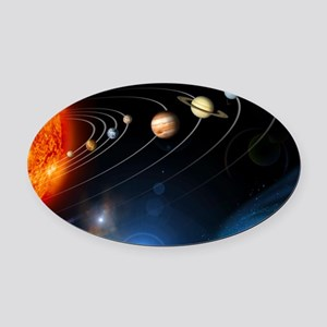 Solar system planets Oval Car Magnet