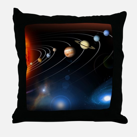 Solar system planets Throw Pillow