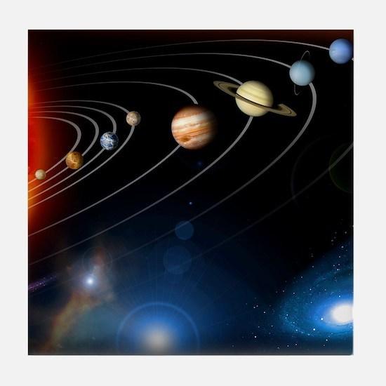 Solar system planets Tile Coaster