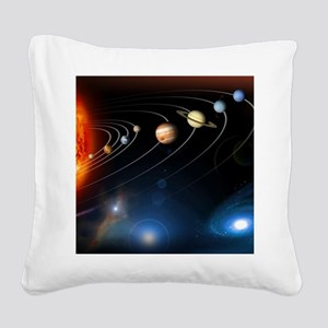 Solar system planets Square Canvas Pillow