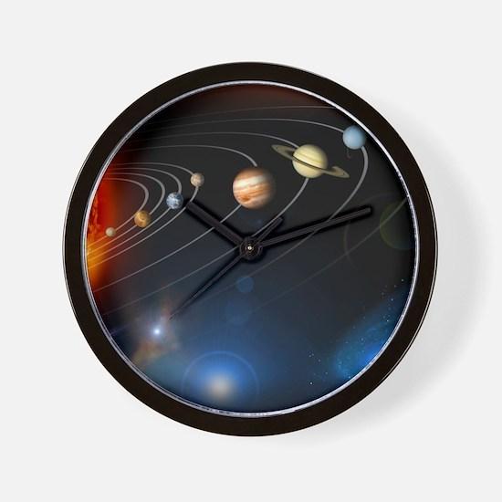 Solar system planets Wall Clock
